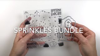 Emboss Resist Sprinkles card