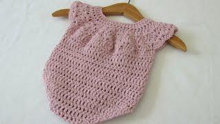 How To Crochet A Cute Baby Girls Romper - The Martha Romper