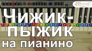 Чижик - Пыжик на пианино. Как играть. Ноты цифрами