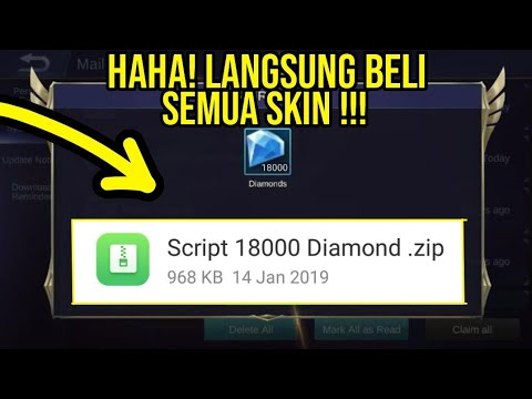 SCRIPT GRATIS 18000 DIAMOND MOBILE LEGENDS !!!