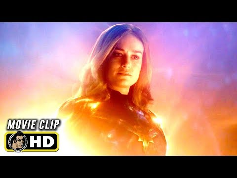 AVENGERS: ENDGAME (2019) Captain Marvel Saves Iron Man [HD]