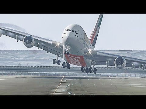 Planes vs Crosswind Landings - X-Plane 11