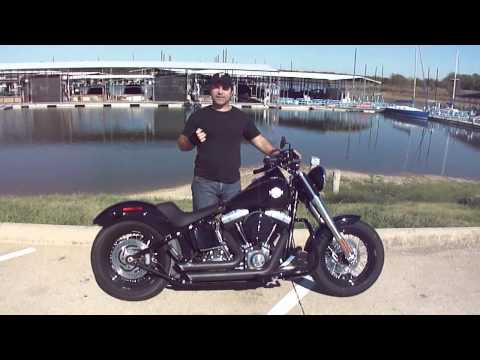 2013 Harley Davidson FLS Softail Slim Vance and Hines Short Shots