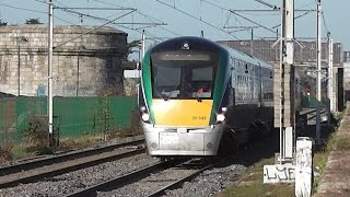 preview picture of video 'IE 22000 Class Intercity Train number 22342 - Blackrock, Dublin'