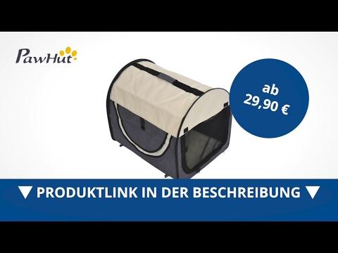 PawHut Hundetransportbox  faltbar  Größe XL - 81x56x66 cm  dunkelgrau-creme  - direkt kaufen!
