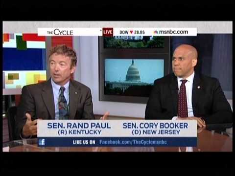 Rand Paul and Cory Booker Appear on MSNBC's The Cycle