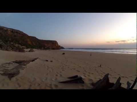 Sunset 360 degree timelapse of Ethel Wreck