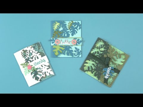 DIY Tropical Themed Card Front! | Sizzix