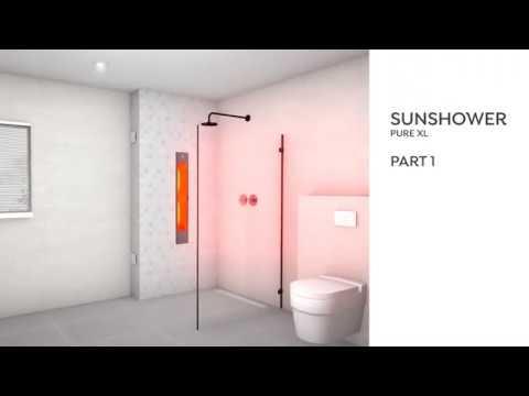 Sunshower Pure XL - inbouw - Half Body - White