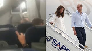 video: Watch: Duke and Duchess of Cambridge forced to reschedule tour as their plane gets caught in thunderstorm