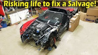 "Rebuilding a Wrecked 2016 Corvette Z06 (Part 3) ""Not From Copart"""