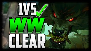 BEST WARWICK CLEAR ROUTE FOR CONSISTANT 1v5 CARRY!   Warwick Guide Season 11 League of Legends