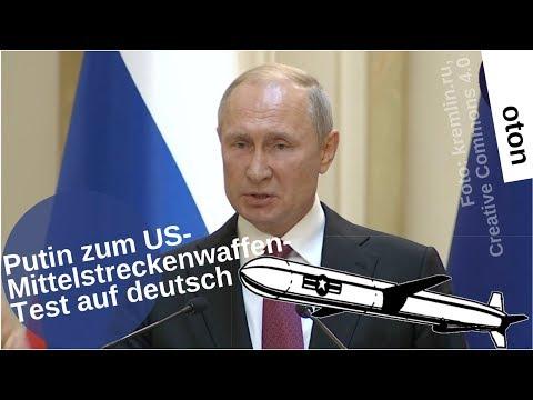 Putin zum US-Mittelstreckenwaffentest auf deutsch [Video]