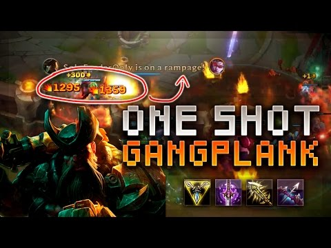 LATE GAME GANGPLANK 1200+ DAMAGE BARREL ONE SHOT! - League of Legends Gameplay