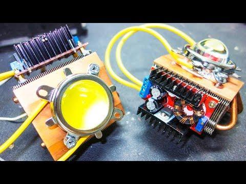 Focos Caseros LED de 2000w equiv. en el Coche | (DIY 100w LED x2)