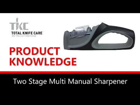 Product Knowledge/Demo - 2 STAGE MULTI ANGLE MANUAL SHARPENER