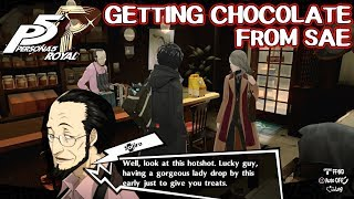 Getting Chocolate from Sae - Persona 5 Royal