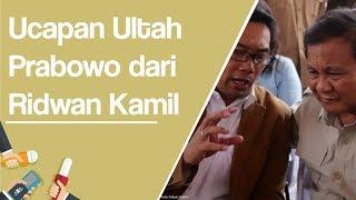 Kang Emil Ucapkan Ulang Tahun untuk Prabowo Subianto