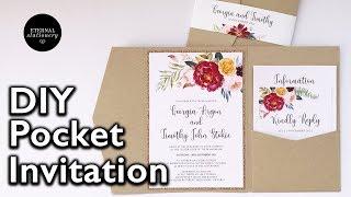 DIY Watercolour Pocket Invitation | DIY Wedding Invitation