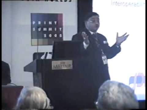 Print Summit 2005 : Mr Atul Saran,Country Manager EFI India P Ltd at Print Summit 2005(1)
