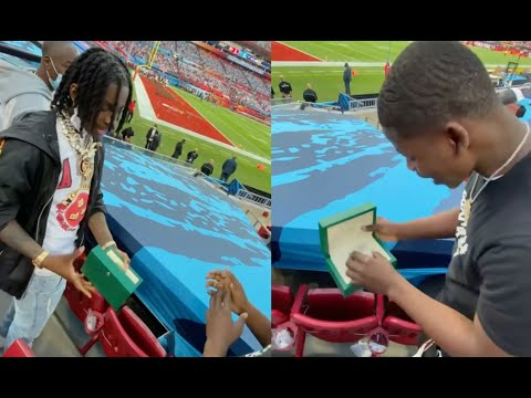 Polo G Blesses His Brother With Rolex Watch At His First Football Game Ever