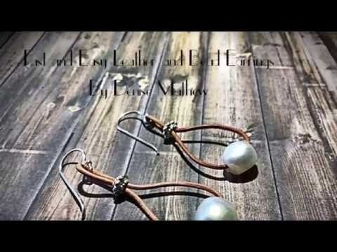How to Make a Fast and Easy DIY Pearl and Leather Earrings by Denise Mathew