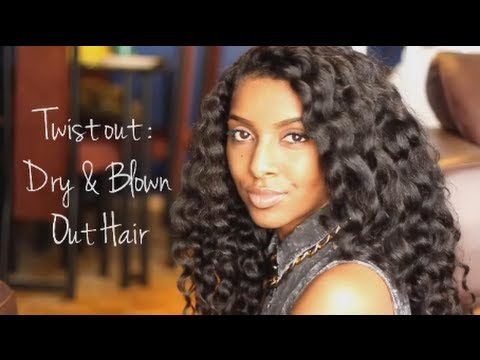 Dry Two Strand Flat Twist-Out: Blown Out Hair | hairscapades