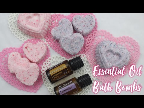 DIY Essential Oil Bath Bombs Valentines Day Gift Idea