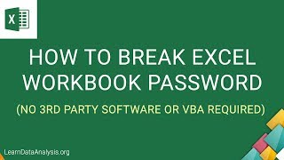 How to break Excel Workbook Password Protection without software | MS Excel Tutorial