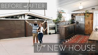 Our NEW House! Mid Century Modern House Renovation And Tour | Before And After 2018