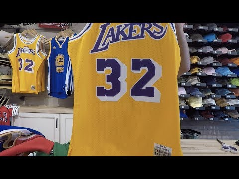 cbbf7531a7b new zealand magic johnson mitchell ness throwback swingman jersey youtube  5a68d 9c971