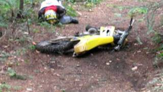 preview picture of video 'Motocross faceplant crash'