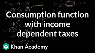 Consumption Function with Income Dependent Taxes