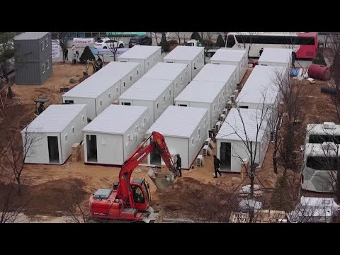 Shipping container turns COVID hospital in S.Korea