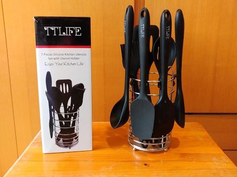 Disfruta cocinando con este Set de 7 Utensilios de cocina de TTLIFE