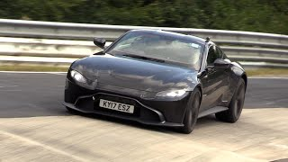 Aston Martin Vantage - Brutal V8 Engine SOUNDS on the Nurburgring