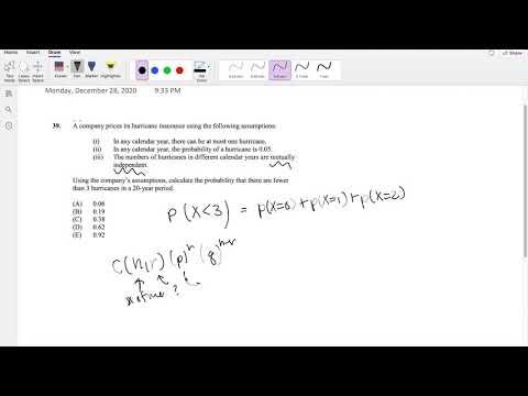 SOA Exam P Question 39 | Bernoulli's Trial - YouTube