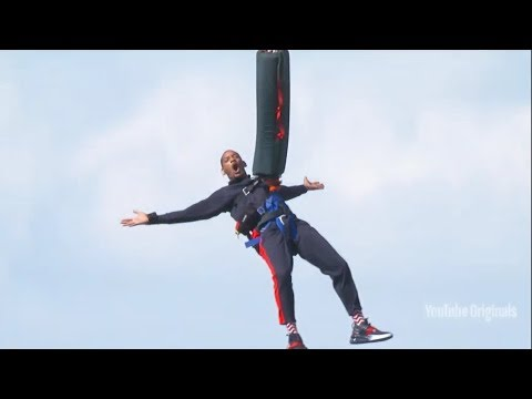 Will Smith Bungee Jumps Out Of A Helicopter in The Grand Canyon