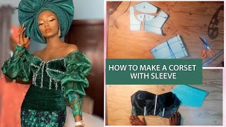 HOW TO MAKE A CORSET TOP/PATTERN + SLEEVES