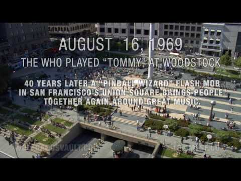 Flash Mob on the 40th Anniversary of Woodstock