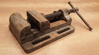 Big Drill Press Vise Restoration