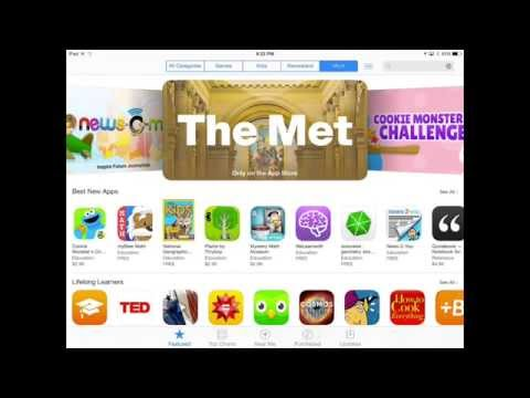 Finding iPad Apps :: Browsing Education Apps on the App Store