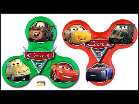 Disney Cars 3 FIDGET SPINNER DIY GAME - Surprise Toys From Cars 3 Movie