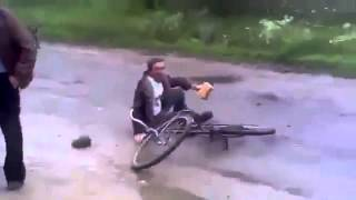 Собака и велосипедист прикол