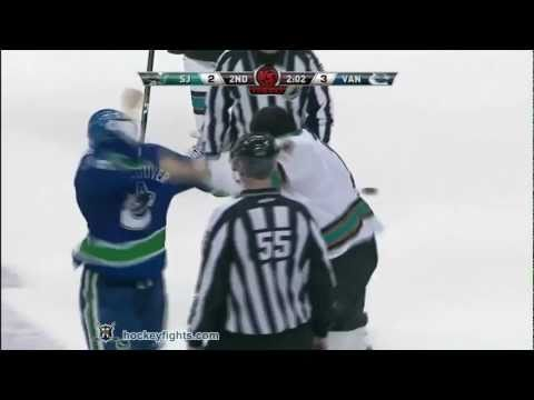 Patrick Marleau vs Kevin Bieksa