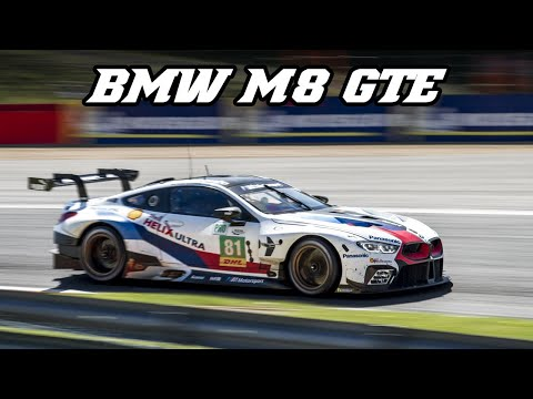 BMW M8 GTE - Nice deep V8 sound (Spa 2018)