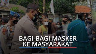 Polres Jakarta Barat Bersama Kodim 0503/JB dan Satpol PP Bagi-bagi Masker ke Masyarakat