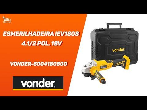 Esmerilhadeira IEV1808 4.1/2 Pol. 18V sem Bateria com Maleta - Video