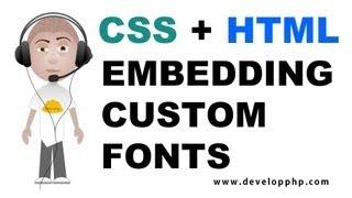 CSS Embed Custom Font HTML Tutorial Special Website Text