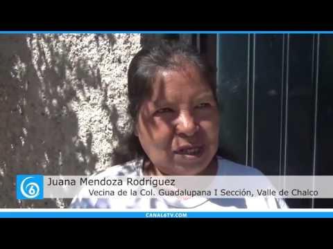 Falta de agua en la colonia Guadalupana 1a Sección de Valle de Chalco